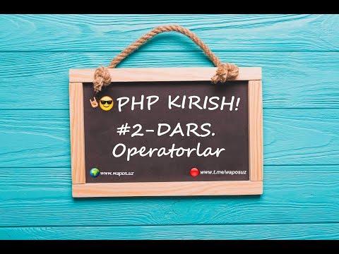 Operatorlar 2 DARS