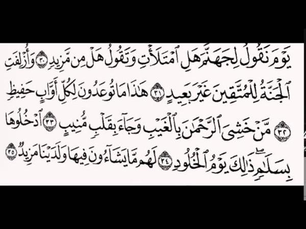 Чтение муфтия Абдульазиза Али Аш Шейх