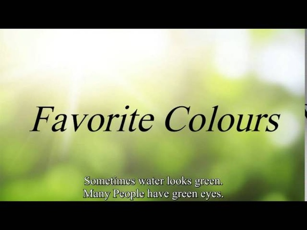 [BBC English Center] Listening and Speaking Ep 31- Favorite Colours