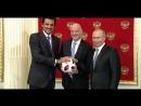 Церемония передачи Катару полномочий на проведение ЧМ-2022.