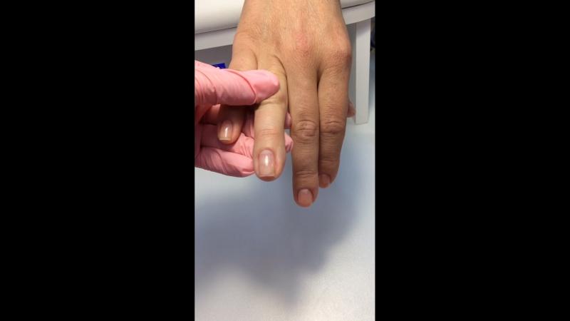 Выравнивание ногтевой пластины, проверяем блики
