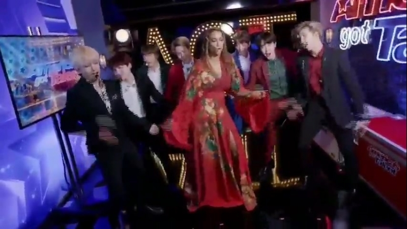 TYRA IS TRULY SO COOL. SHE EVEN DID THE DANCE WITH THE BOYS.
