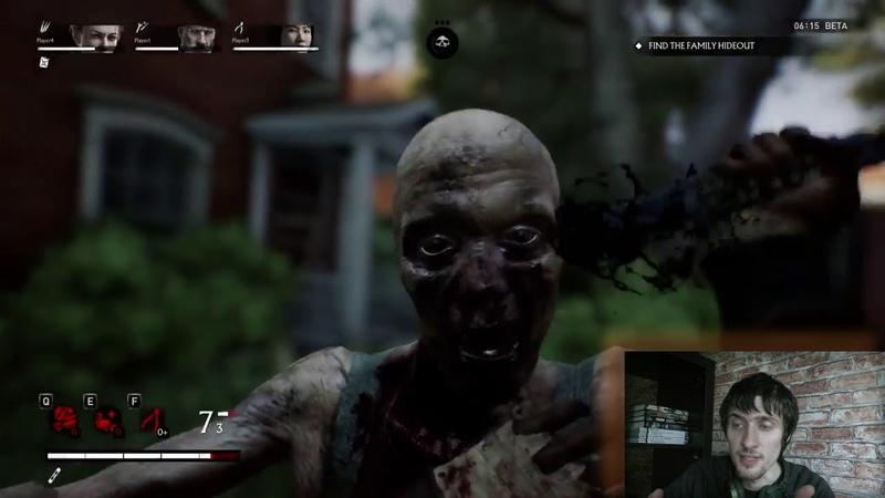 Overkills The Walking Dead геймплей \ обзор \ е3 2018 \ реакция