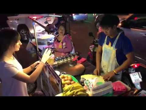 Тайские блины с бананом роти в Паттайе . Тайланд . Часть 2