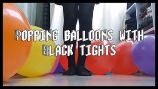 ASMR : Popping balloons with Black tights / 검정 스타킹 신고 풍선 터트리기