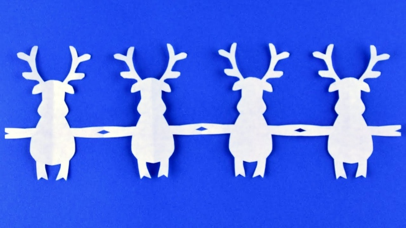 How to make Santa's reindeer deer ☃ Garlands of paper ☃ DIY Christmas ideas with their own hands