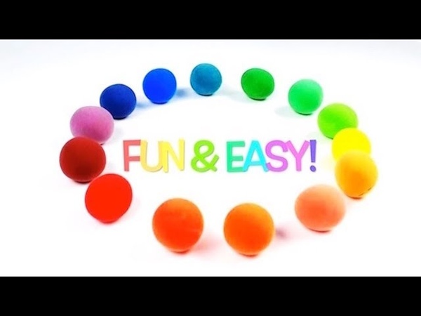 How to make Rainbow Colors with Play-Doh for Preschool Kids
