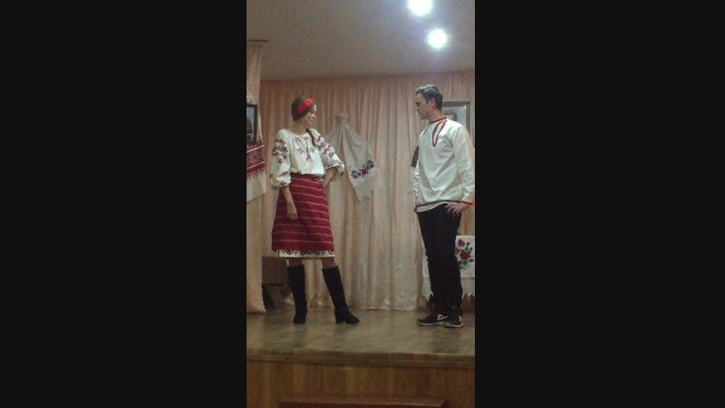 Уривок з вистави Кайдашева сімя в Херсонському гідрометі 13.12.18.
