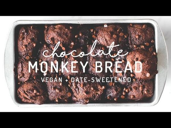Chocolate Monkey Bread {vegan, grain-free, date-sweetened}