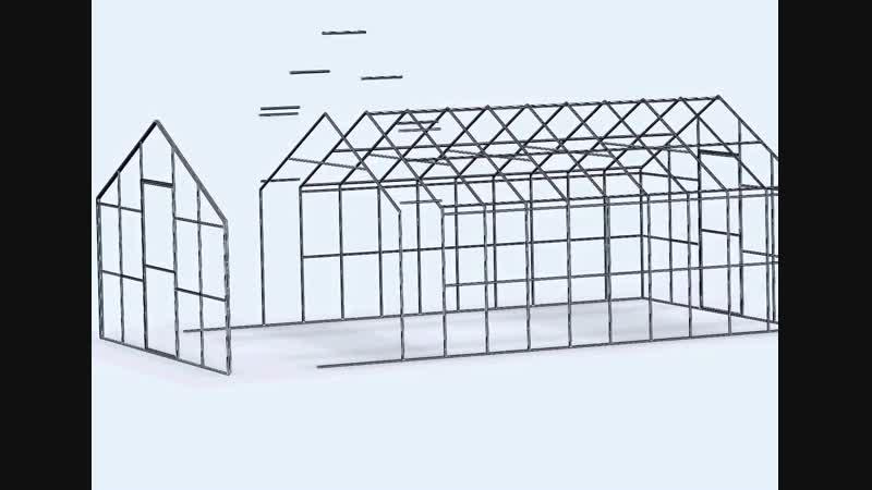 каркас теплицы из профильной трубы чертежи