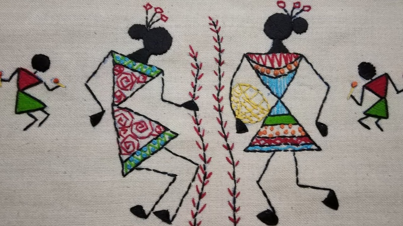 230-Warli embroideryTribal art of Maharashtra (Hindi/Urdu)