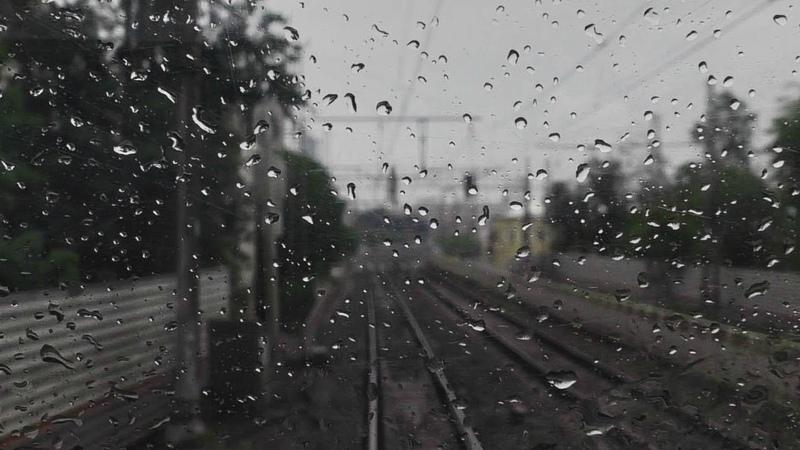 Серые, дождливые дни. Поездка в кабине ЧС7. От Москвы-Казанской до Москвы-Сортировочной.