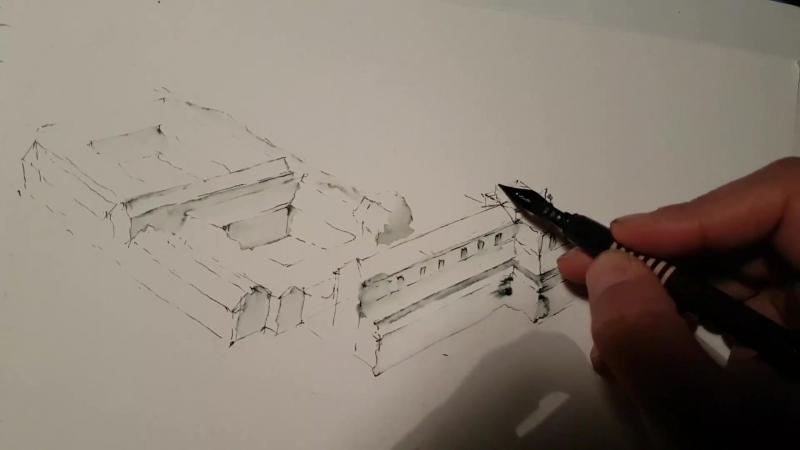 Архитектурный Скетчинг Стрим Из Италии Рисую Флоренцию Basilica di Santo Spirito