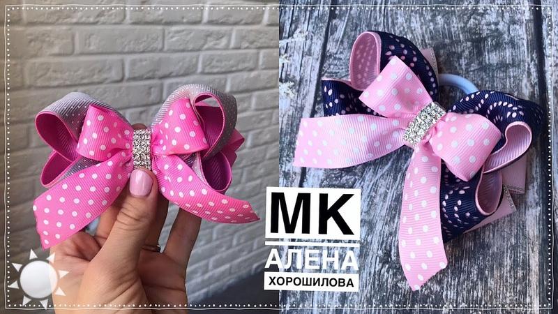 Бантики в школу в розовом цвете ribbon bows