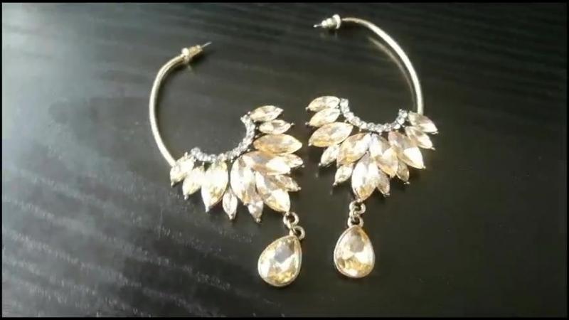 Женские серьги с длинными хрустальными серьгами ручной работы(Swan Long Crystal Handmade Earrings Women's Earrings)