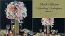 DIY Tall Peach Blossom Wedding Centerpiece DIY Wedding Centerpieces DIY Tutorial