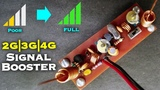 Make Your Own Cell Phone Signal Booster for 2G-3G-4G Network