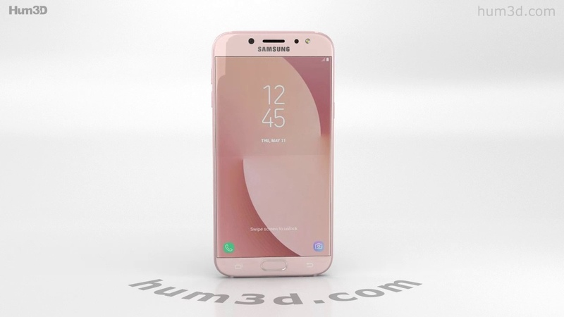 Samsung Galaxy J7 (2017) Pink 3D model by Hum3D.com