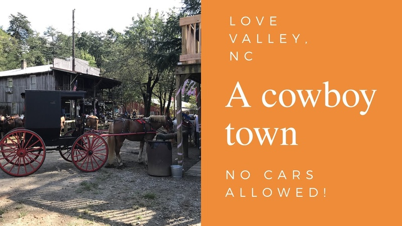 Love valley, North Carolina. A cowboy town and a horse lovers dream, where no cars are allowed!