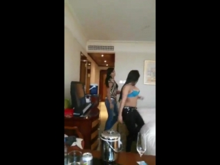 Dance in hotel room - local indian girls video