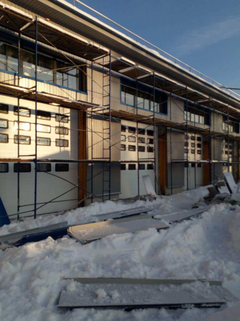 Ремонт фасада промышленного комплекса