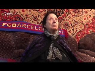 Nənə Barcelona'nın azarkeşi