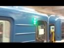 Метропоезд Ем/Ема 81-704/705 (Зелёная лампа РП), Петербургский метрополитен.
