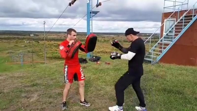 Евгений Бондарь, тренировка