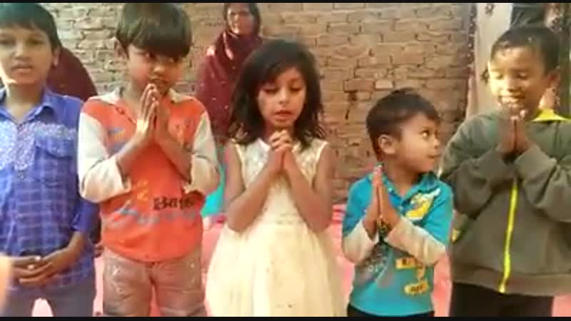Children reciting our Father in Heaven and Hail Mary in Urdu Language in our parish in Pakistan