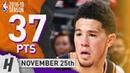 Devin Booker Full Highlights Suns vs Pistons 2018.11.25 - 37 Pts, 5 Ast, 4 Rebounds!