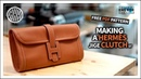 [가죽공예] 에르메스 지제st 클러치백 만들기 / Making a HERMÈS Jige Clutch st / Leathercraft / DIY / Free pattern