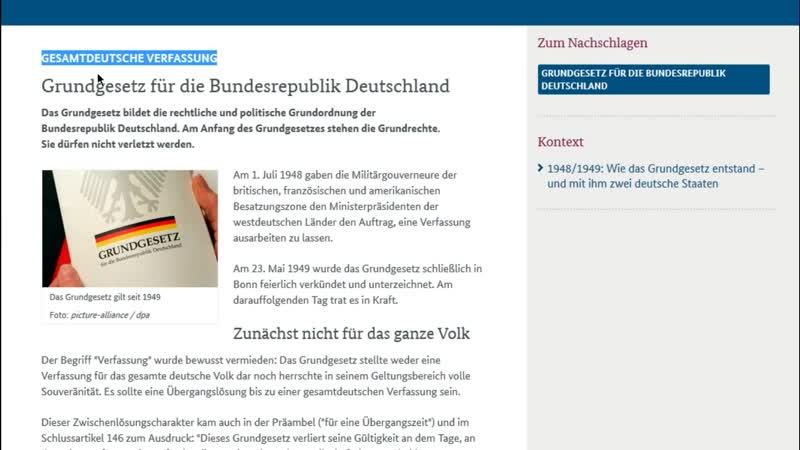 Warum Deutschland keine Verfassung hat etwas andere Video