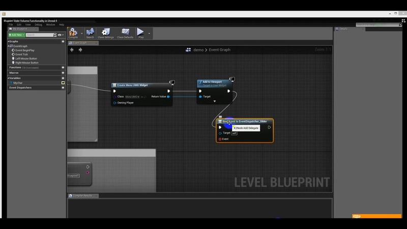 Change volume in blueprints with UMG Slider