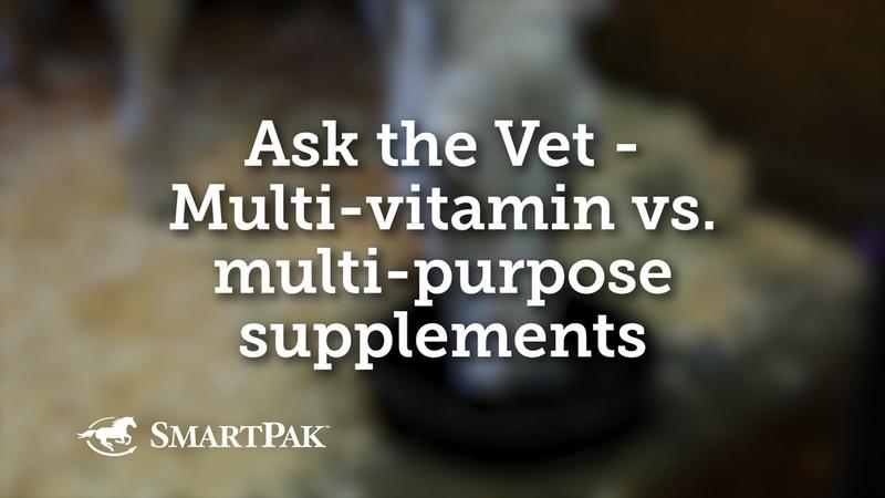 Поливитамины против комплексных добавок для лошадей / Multi-vitamin vs multi-purpose supplements