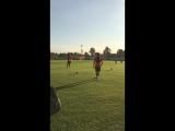 Тренировка перед матчем с «Ахматом»