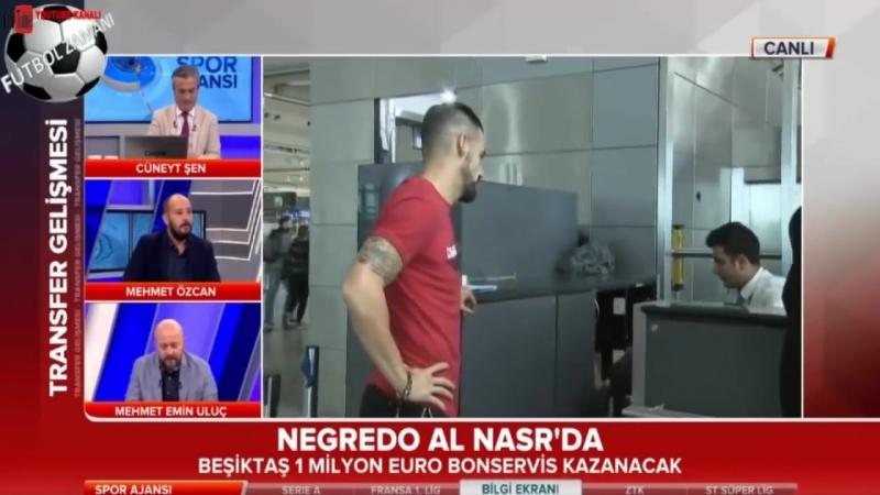 Beşiktaş Negredonun sözleşmesini karşılıklı olarak feshetti