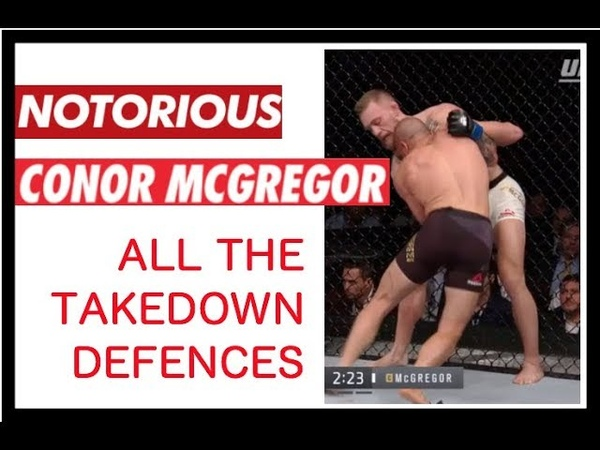 Conor McGregor - Every takedown defence and recovery (highlights only)