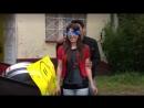Estrella Solis blindfolded