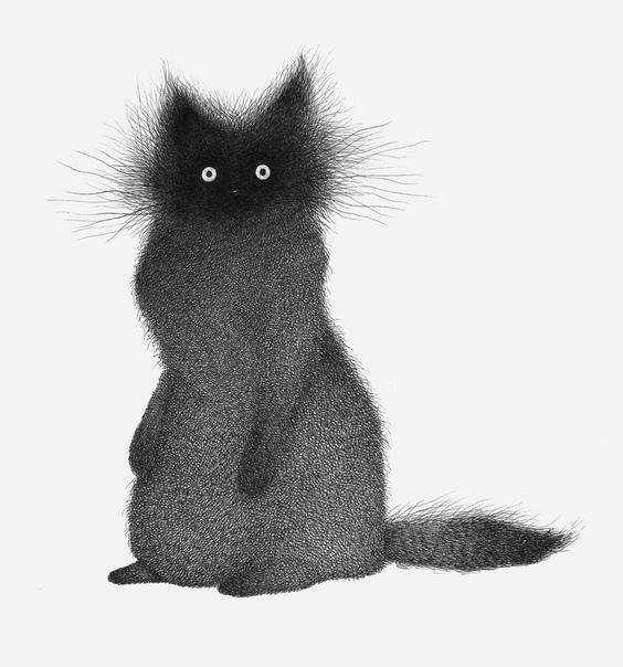 Иллюстрации животных из множества штрихов