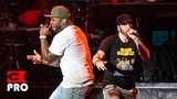 Eminem ft. 50 Cent - Patiently Waiting, In Da Club, I Get Money, Crack a Bottle Multicam (NY 2018)