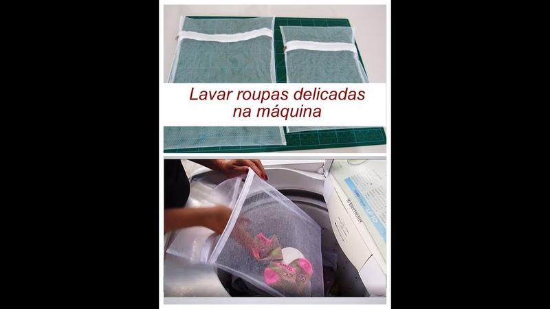Saquinho para lavar roupas delicadas na máquina