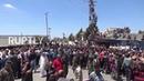 Сирия Сирийский флаг поднимается над Навой после того как город освобожден от террористов