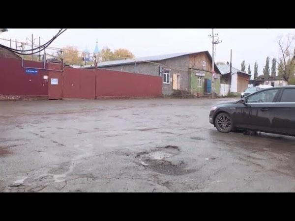 Яма на проезжей части дороги создает аварийную ситуацию в Нижегородке