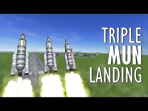 Three Mun Landings AT THE SAME TIME - KSP