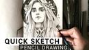 PENCIL SKETCH - speed drawing pencil illustration