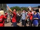 Флеш-моб в поддержку футбольной команды Южной Кореи (Нижний Новгород 18.06.2018)