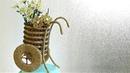 Подарок своими руками / Декоративное кашпо из простых материалов мастер-класс