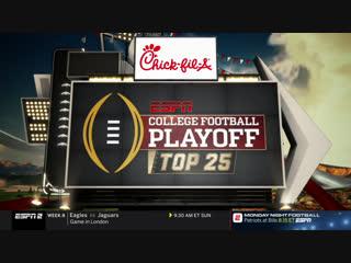 NCAAF 2018 / Week 08 / College Football Playoff: Top 25 / EN