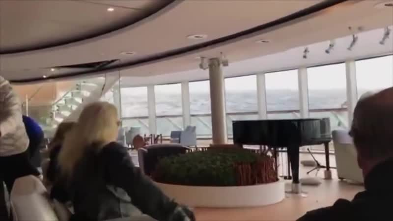 RAW VIDEO- Damage, swaying inside Viking Sky