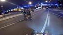 Yamaha ATV. Ночная покатушка на квадроциклах/ ДПС / crazy stunt in Moscow